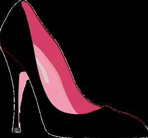 Čierna topánka s vysokým opätkom
